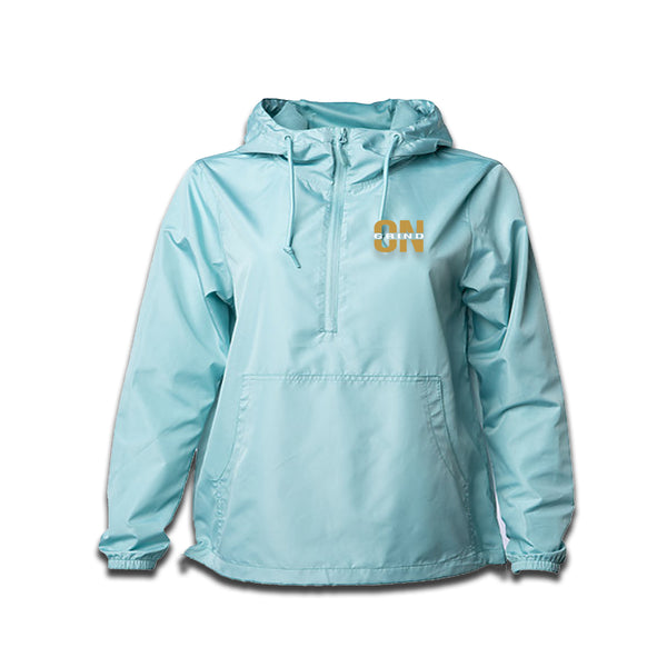 Aqua Grind On Everything Gold Windbreaker - On The Grind