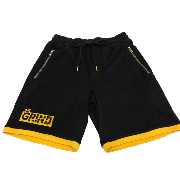 GRIND Shorts - Black/Gold - On The Grind