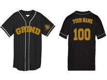 Load image into Gallery viewer, Customizable GRIND Jersey - Black/Gold - On The Grind