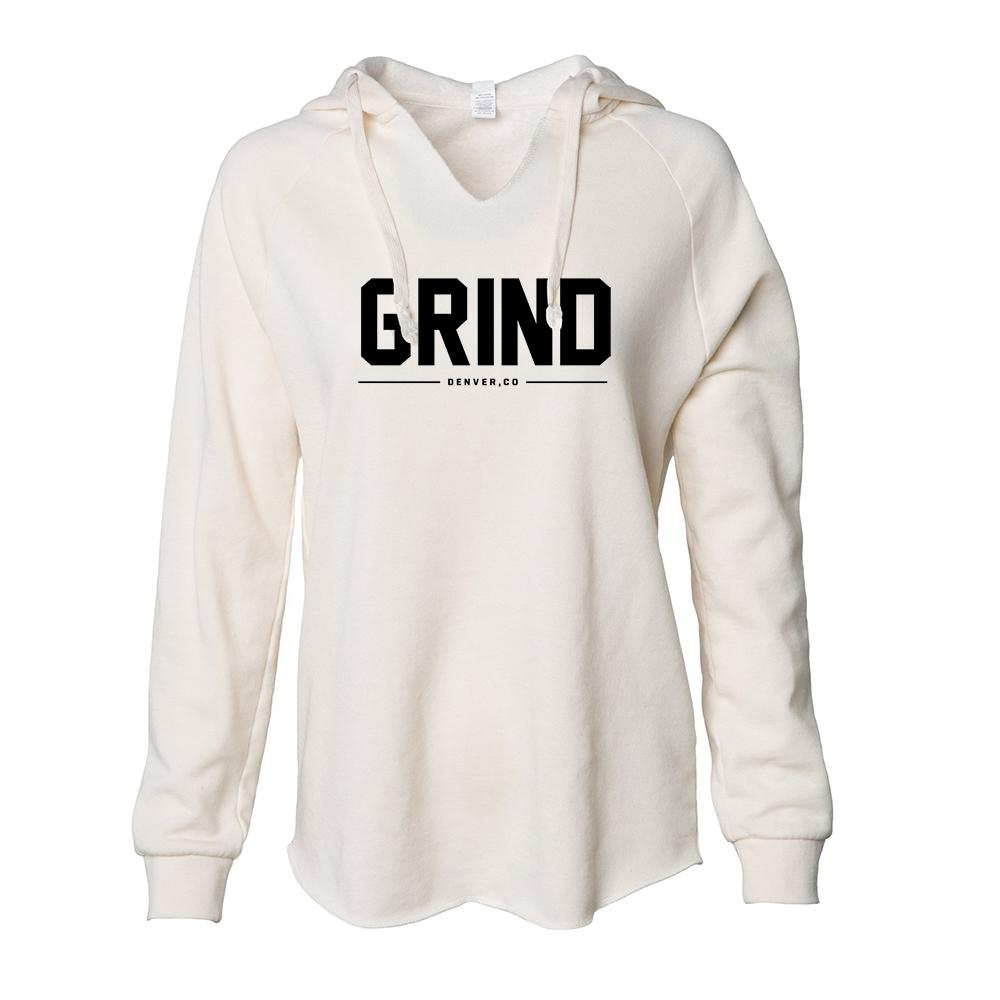Women's GRIND Pullover Hoodie - Bone - On The Grind