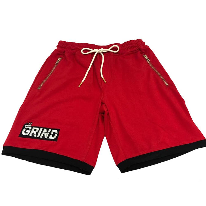 GRIND Shorts - Red/White
