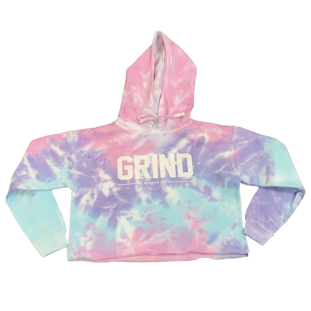 Cotton Candy GRIND Crop Top Hoodie - On The Grind
