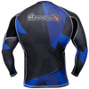 Hayabusa <br> Metaru 47 Silver Rashguard <br> Long Sleeve Blue