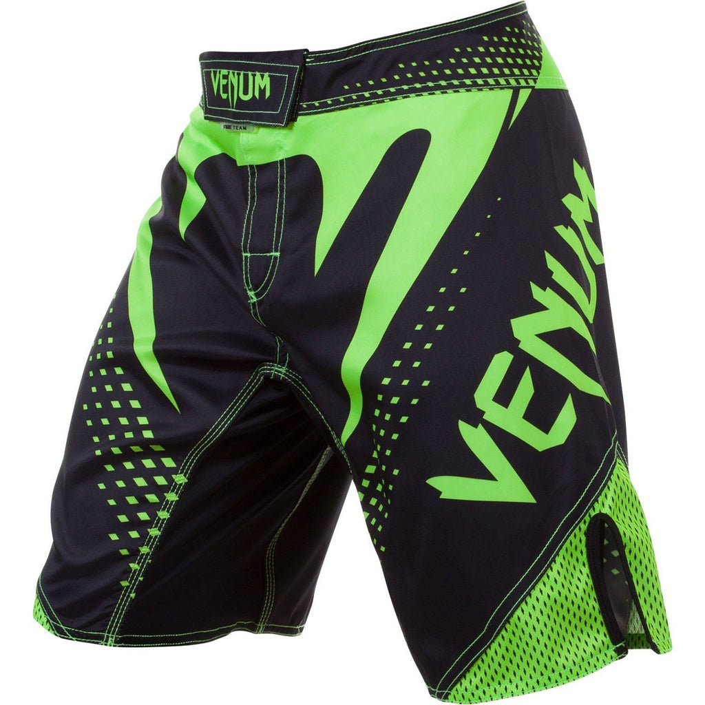 Venum <br> Hurricane Fight Shorts <br> Black/Neo Yellow