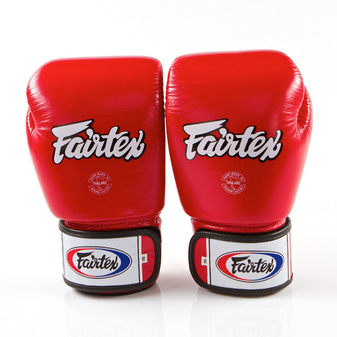 Fairtex  <br> BGV1 Muay Thai Glove  <br> Red