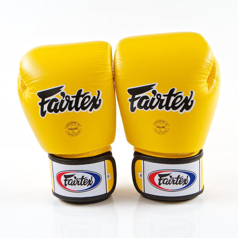 Fairtex <br> BGV1 Muay Thai Glove <br> Yellow