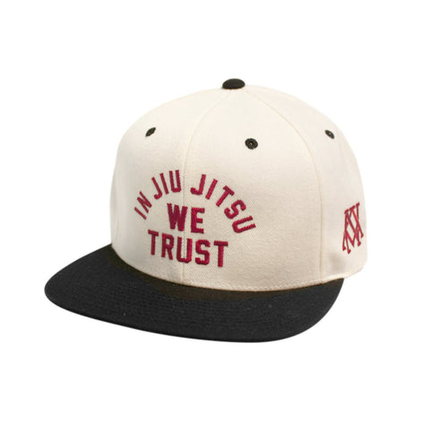 Newaza Apparel <br> In Jiu Jitsu We Trust Hat <br> Cream