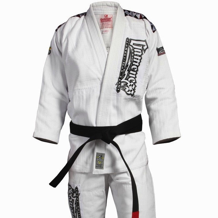 Gameness <br> Platinum Weave Gi <br> White