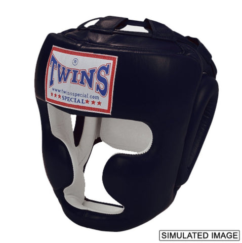 Twins Special <br> Full Face Head Gear <br> Black with Velcro