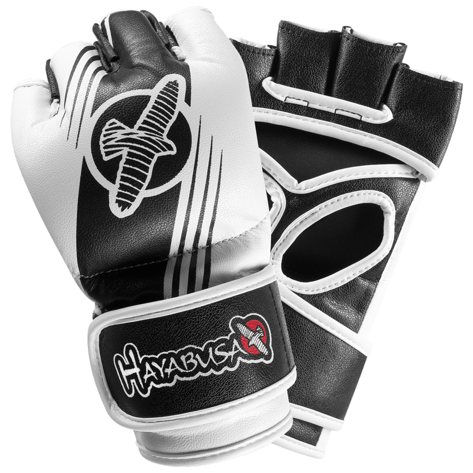 Hayabusa <br> Recast 4oz MMA Gloves <br> Black and White