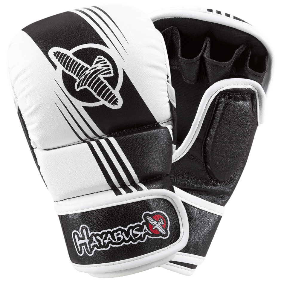 Hayabusa <br> Recast 7oz Hybrid Gloves <br> Black and White