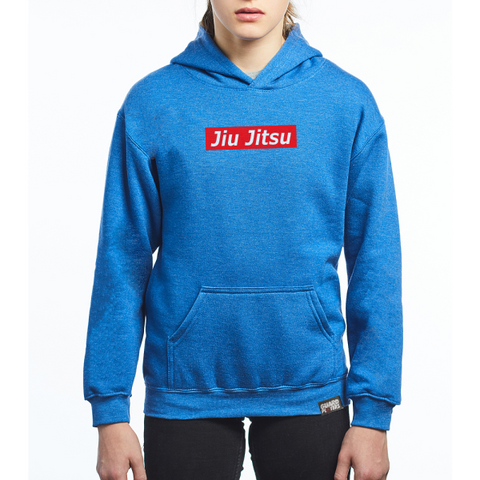 Guard Players <br> Jiu Jitsu Supreme Hoodie <br> Kids Heather Blue