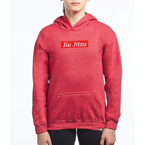 Guard Players <br> Jiu Jitsu Supreme Hoodie <br> Kids Heather Red