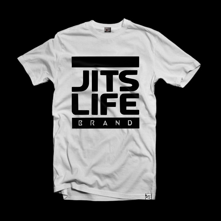Jits Life Brand <br> Signature Logo Tee <br> Black on White