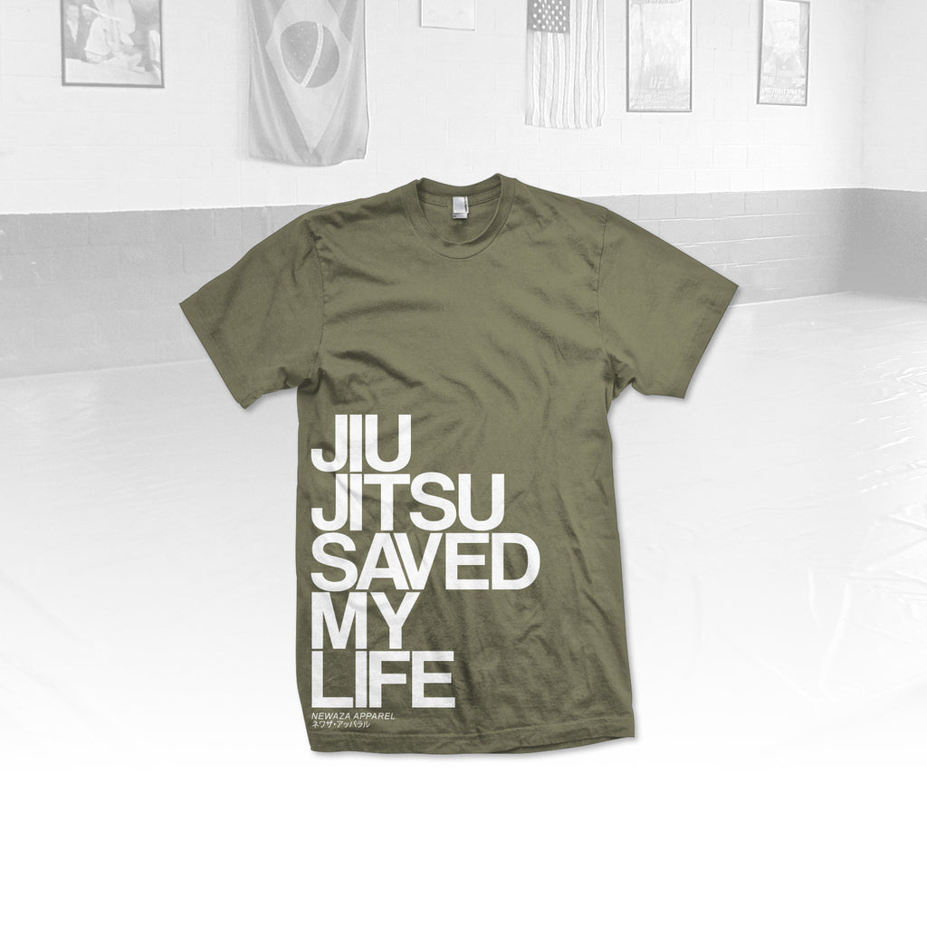 Newaza Apparel <br> Jiu Jitsu Saved My Life <br> Green