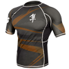 Hayabusa <br> Metaru 47 Silver Rashguard <br> Short Sleeve Brown