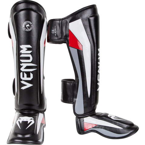 Venum <br> Elite Standup Shinguards <br> Black/Red/Grey