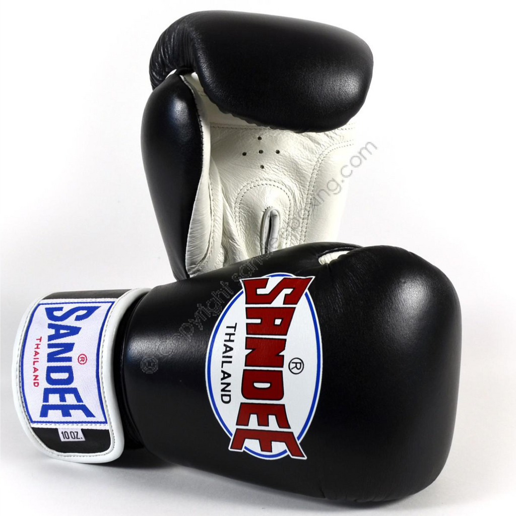 Sandee <br> Leather Boxing Glove <br>Black & White