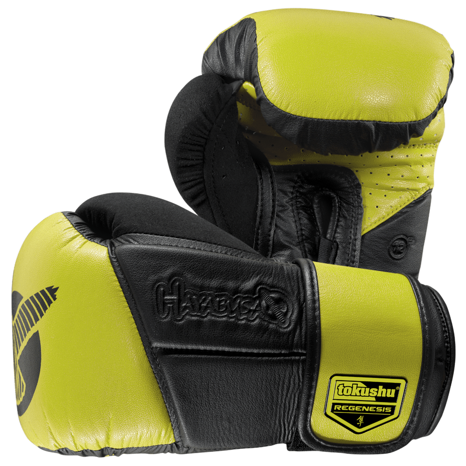 Hayabusa <br> Tokushu Regenesis 12 oz Gloves <br> Black/Lime