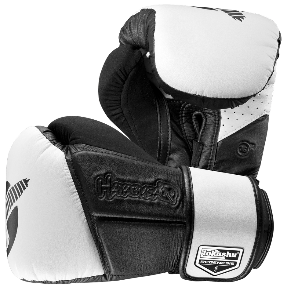 Hayabusa <br> Tokushu Regenesis 16 oz Gloves <br> Black/White