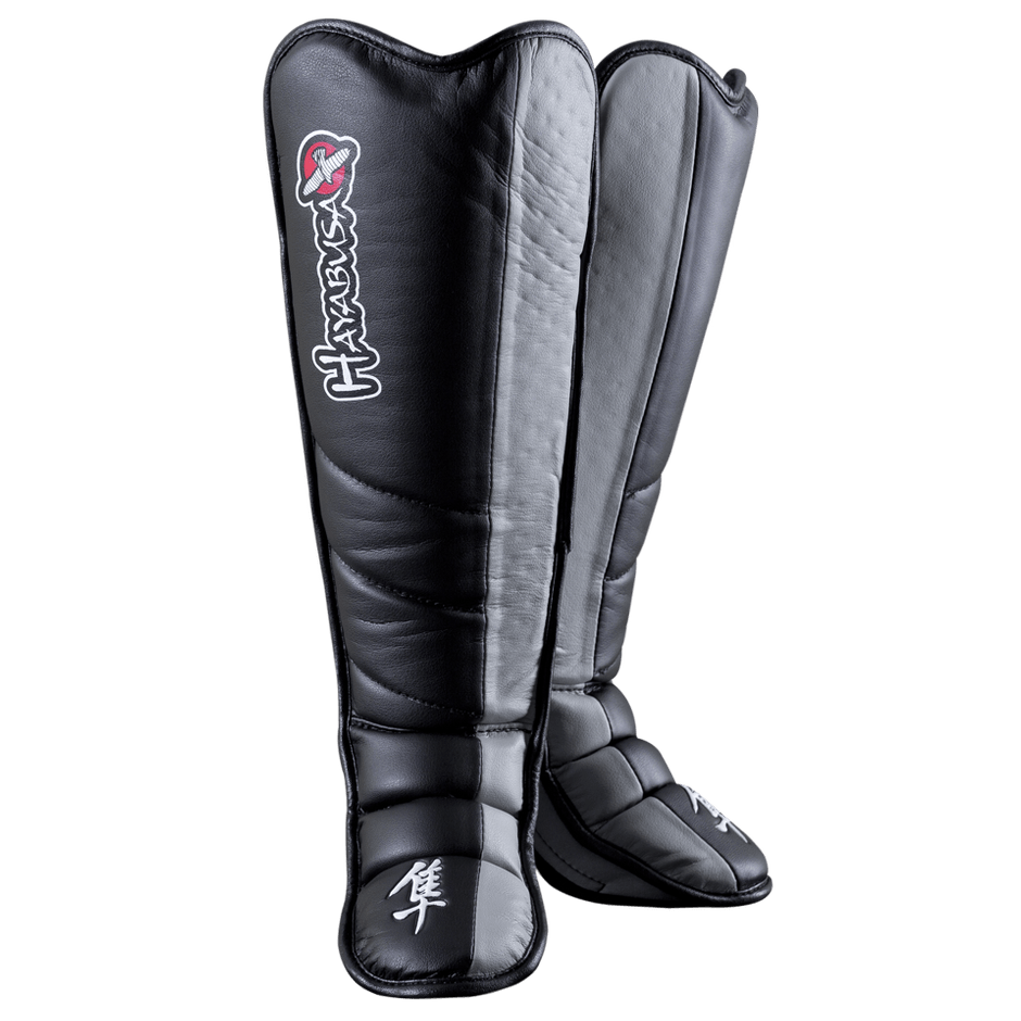 Hayabusa Tokushu Grappling Shinguards  Black/Slate Grey