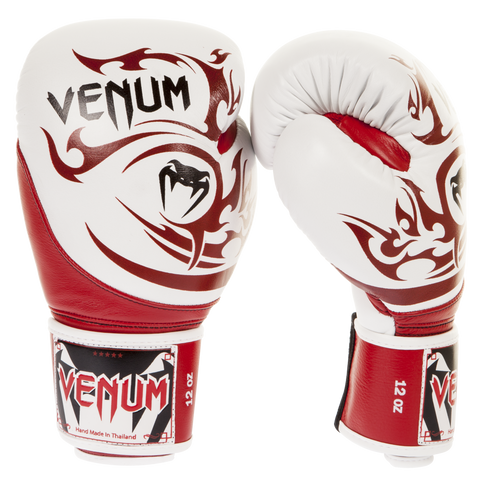 Venum <br> Tribal Gloves <br> Red/White Nappa Leather