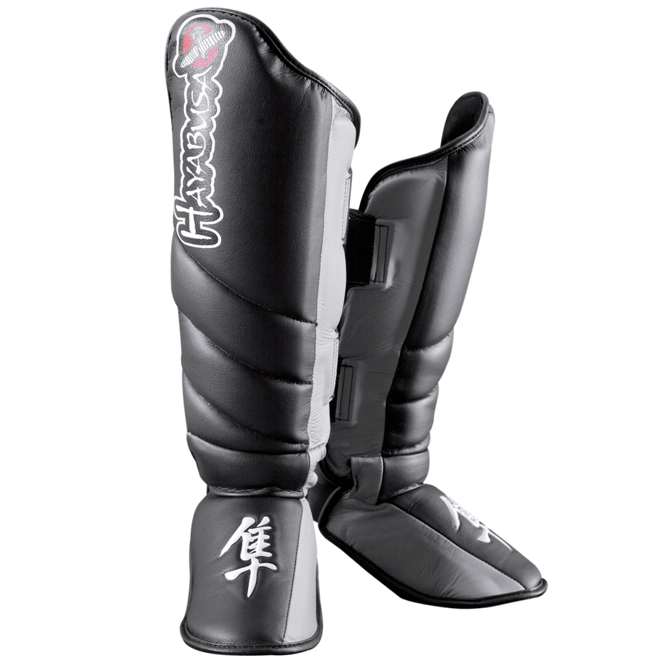 Hayabusa Tokushu Striking Shinguards Black/Slate Grey