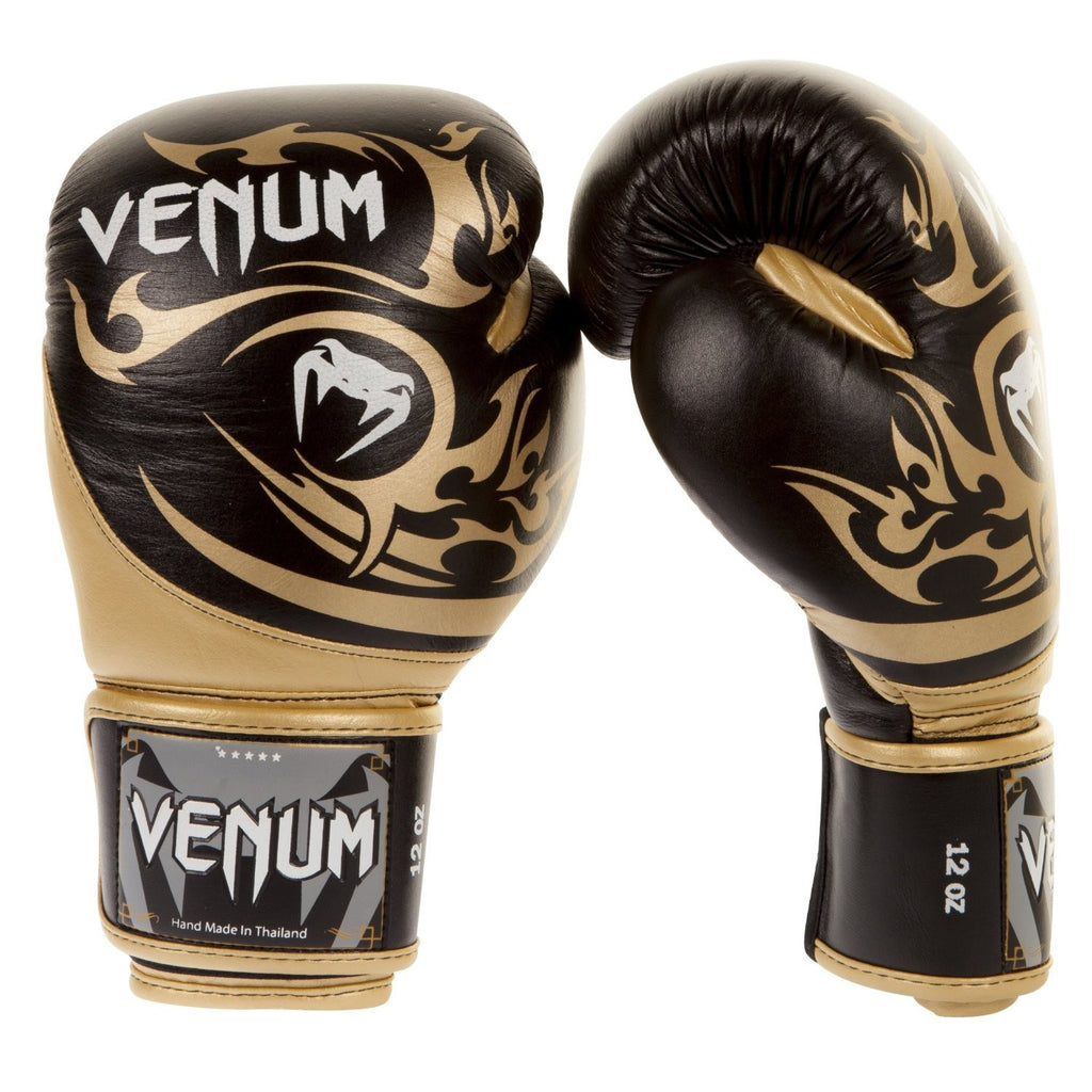 Venum <br> Tribal Gloves <br> Black/Gold Nappa Leather