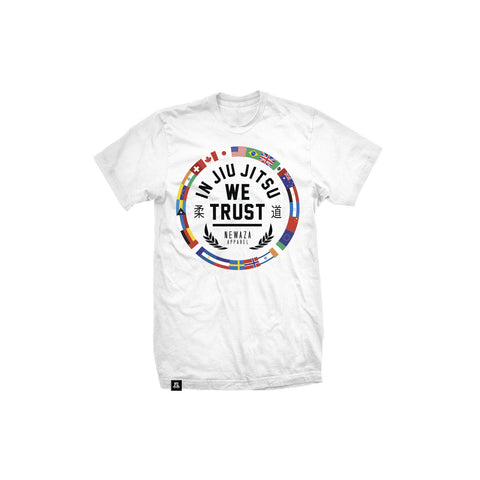 Newaza Apparel <br> Trust Worldwide <br> White Tee