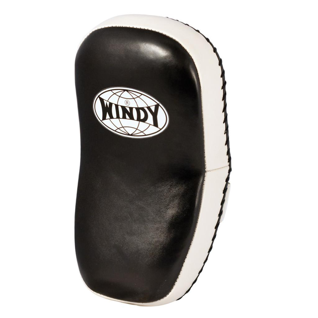 Windy <br> Full Leather Curved Thai Pad KP-8 <br> Black