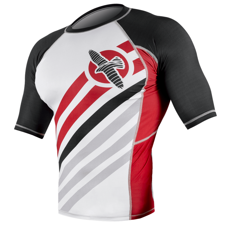 Hayabusa <br> Elevate Rashguard Short Sleeve <br> White