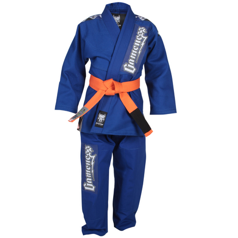 Gameness Platinum Pup Kids Gi Blue