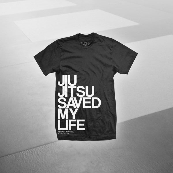 Newaza Apparel <br> Jiu Jitsu Saved My Life <br> Black