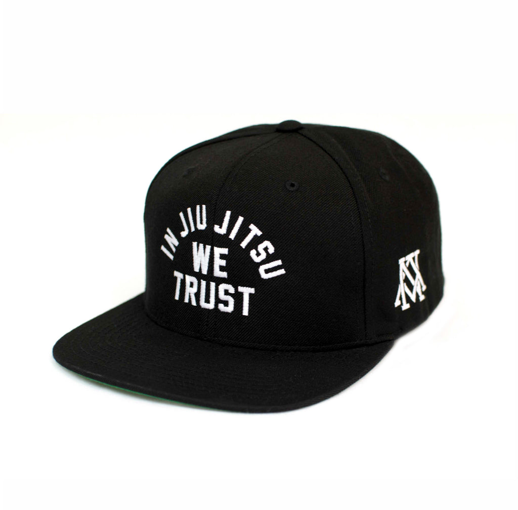 Newaza Apparel<br> In Jiu Jitsu We Trust Hat<br> White on Black