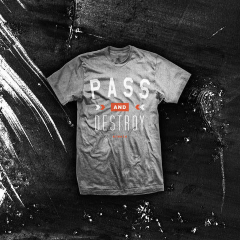 Newaza Apparel <br> Pass and Destroy <br> Heather Grey