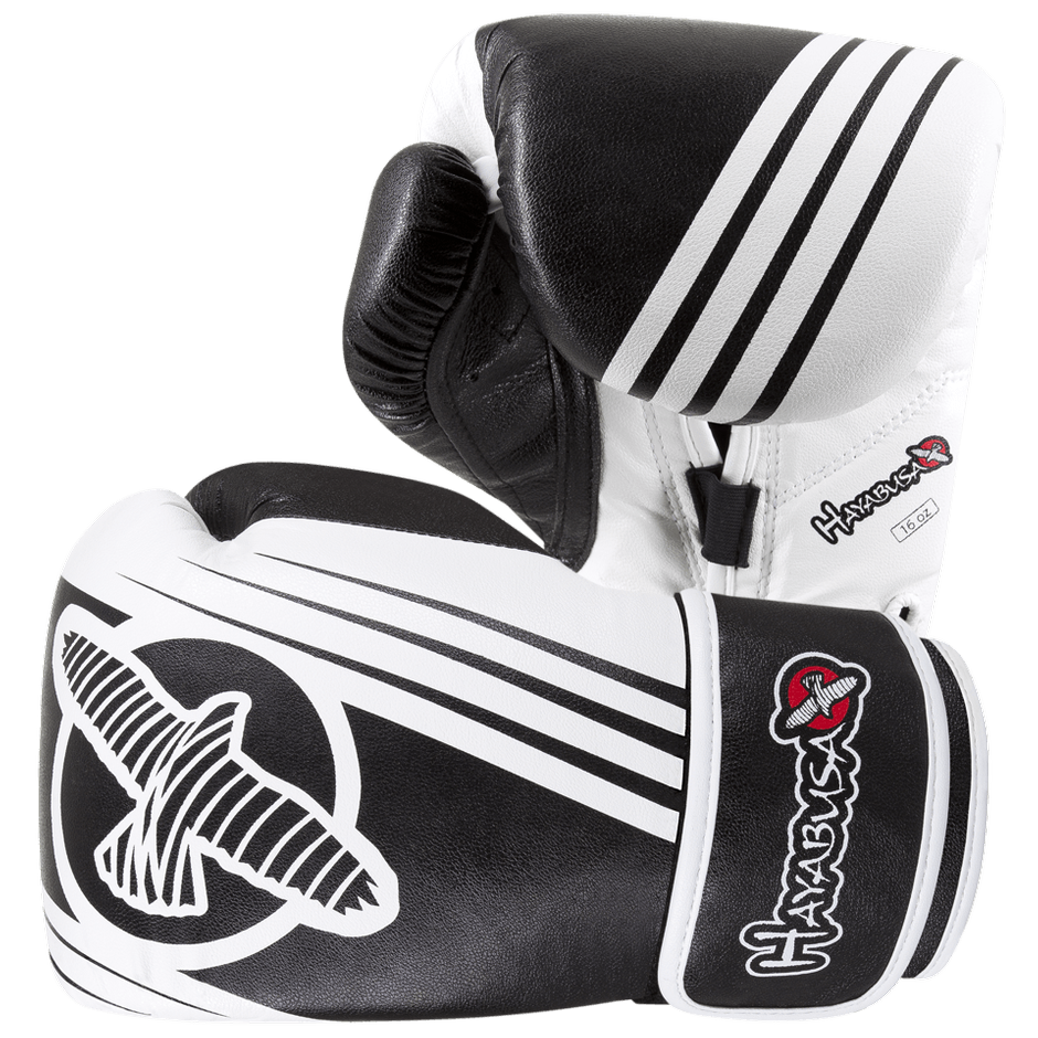 Hayabusa <br> Ikusa Recast 16oz Gloves <br> White\Black
