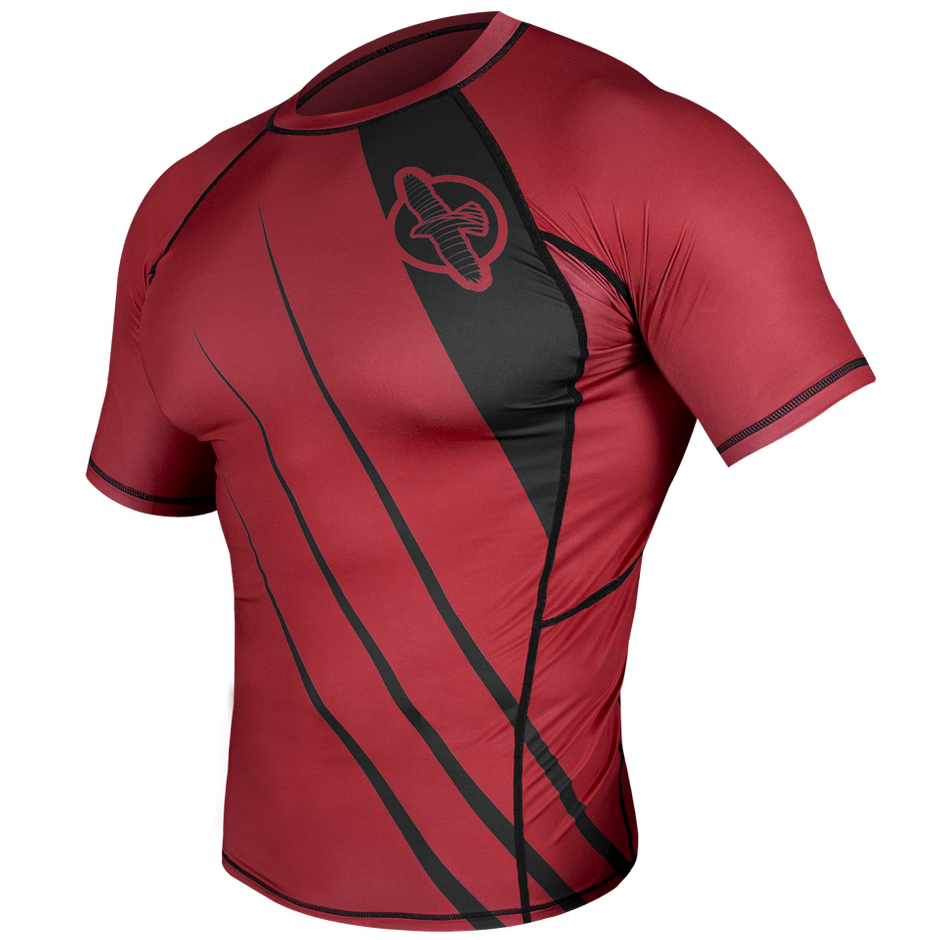 Hayabusa <br> Recast Rashguard <br> Short Sleeve Red