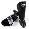 Sandee <br> Leather Boot Shinguard <br>Black & White