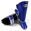 Sandee <br> Leather Boot Shinguard <br>Blue & White