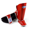 Sandee <br> Leather Boot Shinguard <br>Red & White