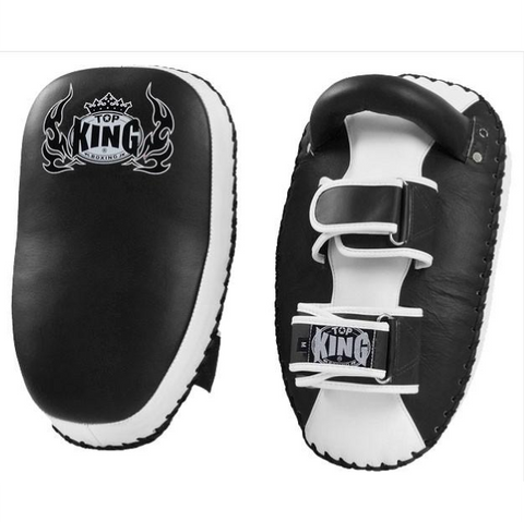 Top King <br> Curved Thai Pads <br> Black and White