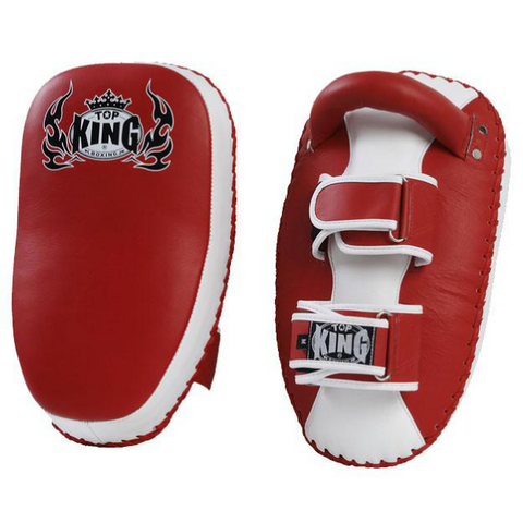 Top King <br> Curved Thai Pads <br> Red and White