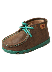 Twisted X Infant Casual Mocs Bomber/Turquoise