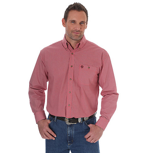 Wrangler Men's George Strait Shirt Red