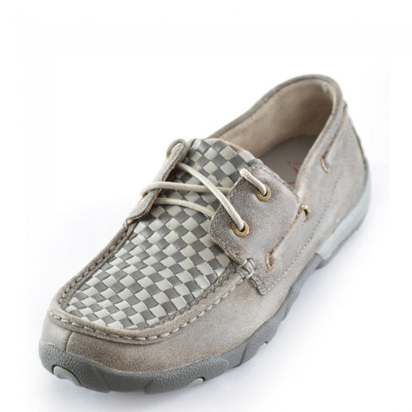 Twisted X Casual Mocs Woven Grey /Grey