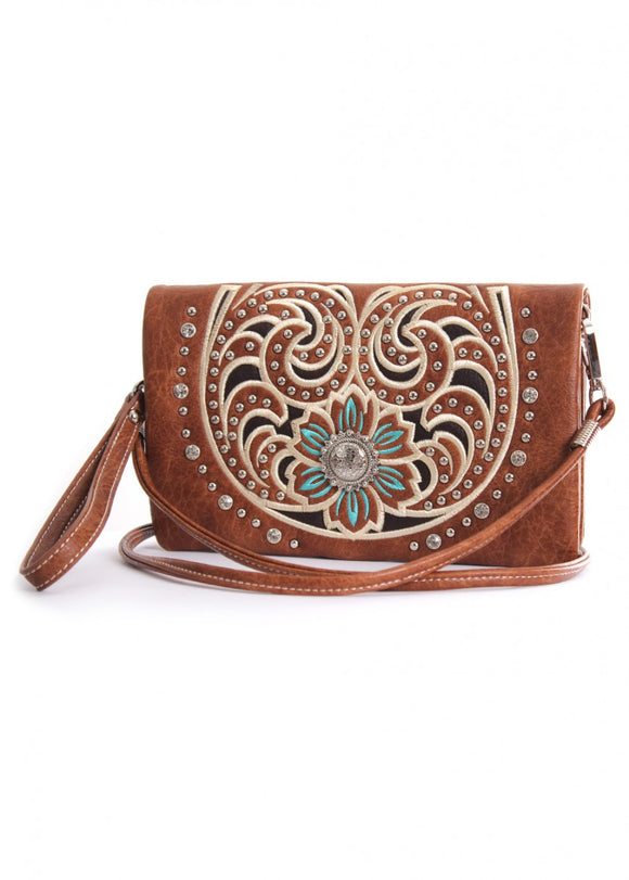 Pure Western Womens Montana Wallet- Mid Tan
