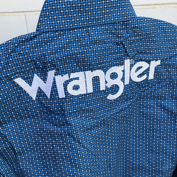 Wrangler Mens Western Logo2 Shirt Blue/Black
