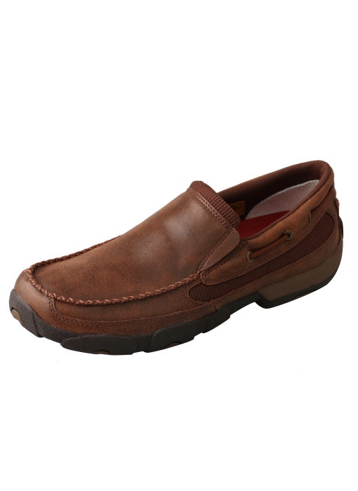 Twisted X Mens Casual Driving Mocs Brown