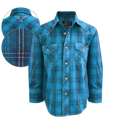 Pure Western Boy's Felix Check Shirt
