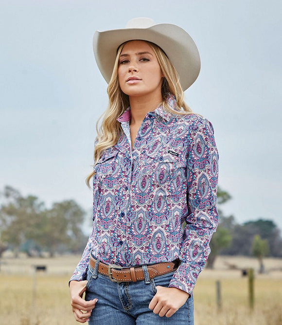 Wrangler Ladies Brittney Print Shirt